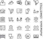 thin line icon set   signpost...   Shutterstock .eps vector #1366577513