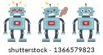 set of robots on a white...   Shutterstock .eps vector #1366579823