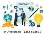 partnership concept. financing... | Shutterstock .eps vector #1366583513