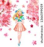Watercolor Spring Iillustratio...