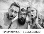 shocking news. amazed surprised ...   Shutterstock . vector #1366608830