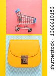 shopaholic concept. toy... | Shutterstock . vector #1366610153