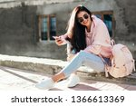 beautiful model posing for the... | Shutterstock . vector #1366613369