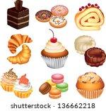 Cakes Photo Realistic Vector Set