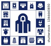 pants icon set. 17 filled pants ... | Shutterstock .eps vector #1366660850
