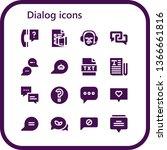 dialog icon set. 16 filled...