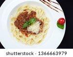 Overhead Closeup Shot Of Pasta...