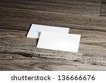 blank corporate identity... | Shutterstock . vector #136666676