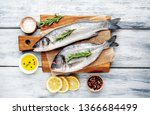 Chilled Raw Fish Sea Bass And...