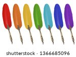 Colored Feathers For Writing...