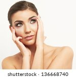 beauty style portrait of young... | Shutterstock . vector #136668740