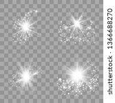 white glow light set with white ... | Shutterstock .eps vector #1366688270