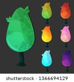 set of vector tree templates...