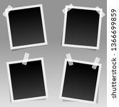 set of realistic square photo... | Shutterstock .eps vector #1366699859