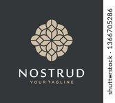 abstract flower swirl logo icon ...   Shutterstock .eps vector #1366705286