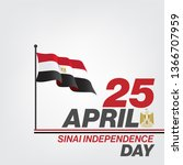 sinai independence day   sinai... | Shutterstock .eps vector #1366707959