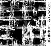 checkered seamless halftone... | Shutterstock .eps vector #1366714379