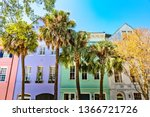 rainbow row  charleston sc | Shutterstock . vector #1366721726