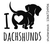 Cute Dachshund Dog Vector...
