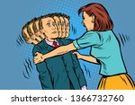 family scandal the wife shakes... | Shutterstock .eps vector #1366732760