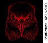 the vector logo eagle for...   Shutterstock .eps vector #1366736600