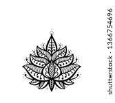 ethnic oriental tattoo mehndi... | Shutterstock .eps vector #1366754696