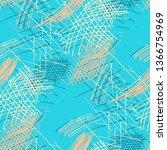 various pen hatches. seamless... | Shutterstock .eps vector #1366754969