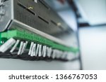 wiring plc control panel with... | Shutterstock . vector #1366767053
