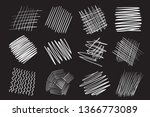 hand drawn lines on isolated... | Shutterstock .eps vector #1366773089