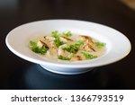 velvety celery cream soup...   Shutterstock . vector #1366793519