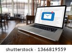 mail communication connection... | Shutterstock . vector #1366819559