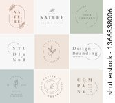 floral brand and logo designs... | Shutterstock .eps vector #1366838006