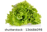 green salad isolated on a white ...   Shutterstock . vector #136686098