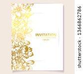 vintage delicate greeting... | Shutterstock . vector #1366862786