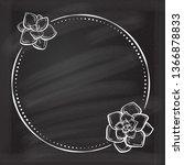 vector floral vintage frame...   Shutterstock .eps vector #1366878833