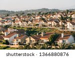 view of houses and hills from...   Shutterstock . vector #1366880876