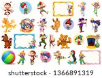 set of circus element... | Shutterstock .eps vector #1366891319