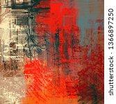 abstract texture. 2d... | Shutterstock . vector #1366897250