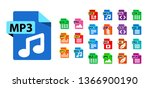 big collection of vector icons. ... | Shutterstock .eps vector #1366900190