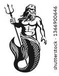 Sea God Poseidon Neptune...
