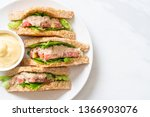 homemade tuna sandwich with...   Shutterstock . vector #1366903076