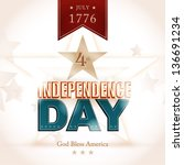 modern independence day poster... | Shutterstock .eps vector #136691234