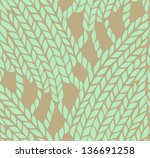 knitting pattern | Shutterstock . vector #136691258