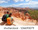 Hikers In Bryce Canyon Resting...