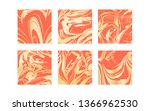 set of vector living coral and... | Shutterstock .eps vector #1366962530