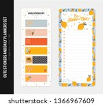collection of weekly and daily... | Shutterstock .eps vector #1366967609