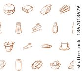 food images. background for... | Shutterstock .eps vector #1367013629