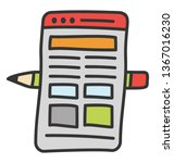 web layout icon in doodle...