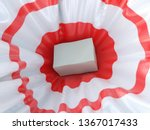 box falling on the red target ...   Shutterstock . vector #1367017433