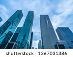 low angle view of skyscrapers... | Shutterstock . vector #1367031386